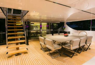 Luxurious Deck Seating On private Charter Yacht