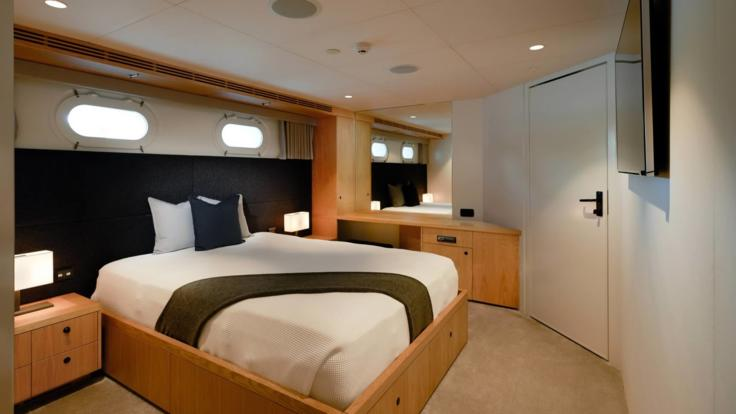 Luxurious Bedroom On Luxury Private Charter