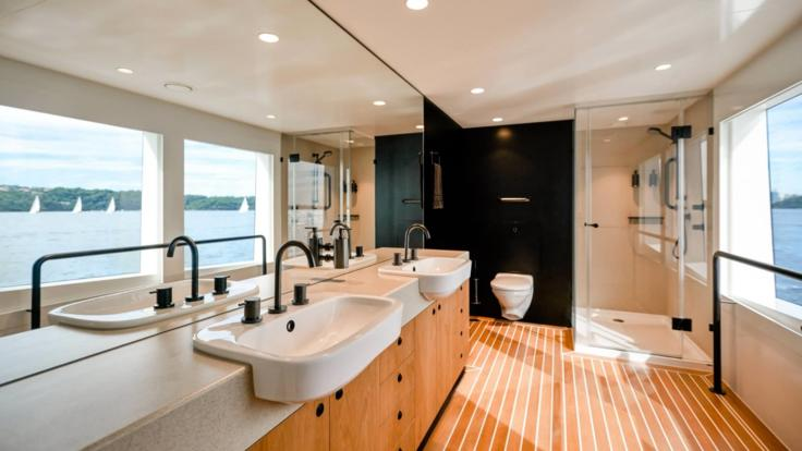 Luxurious Private Bathroom on Super Yacht