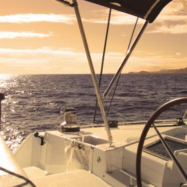 Sunset sailing on the Great Barrier Reef from Port Douglas