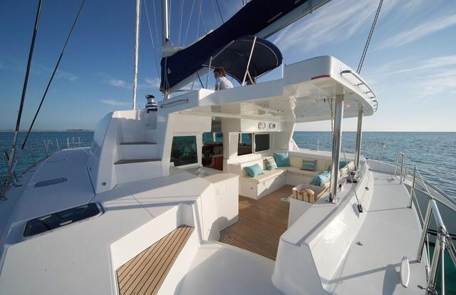Luxury sailing catamaran to take you to the Low Isles