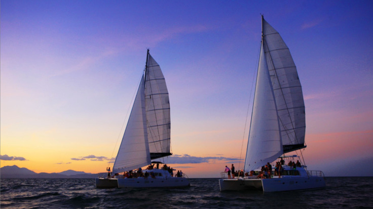 Sail into the evening on the Great Barrier Reef