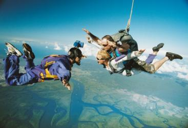 Skydive over the Great Barrier Reef in Australia