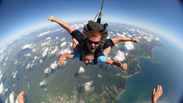 Adrenaline Rush & awesome views over Cairns whilst Skydiving
