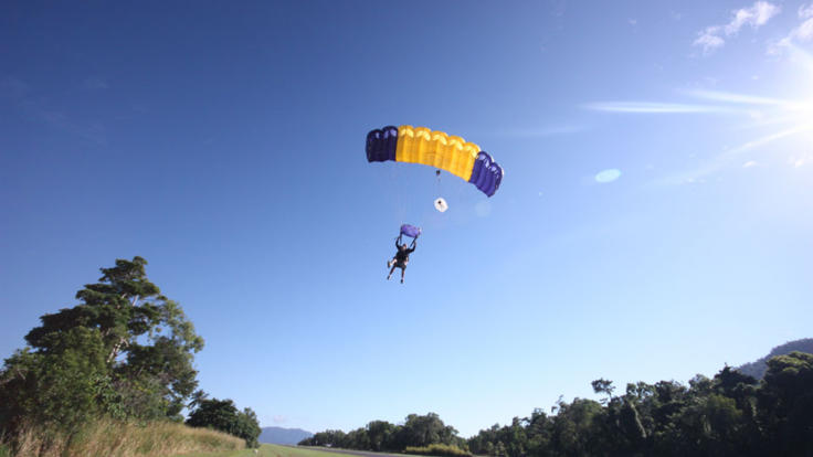 Nice smooth Landing at the Cairns dropzone