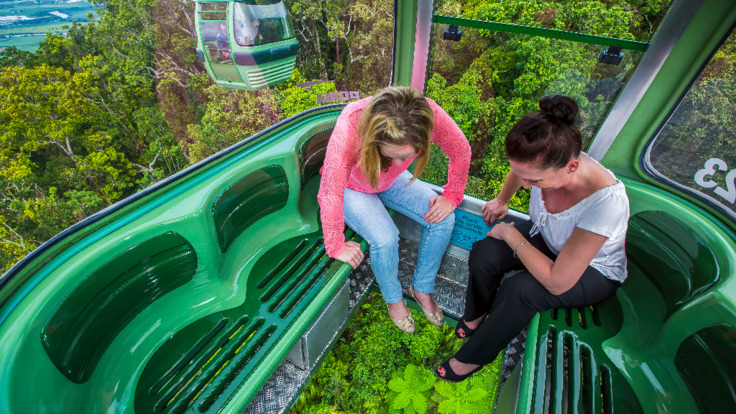 Skyrail Rainforest Cableway, Kuranda Diamond View Upgrade Glass floor