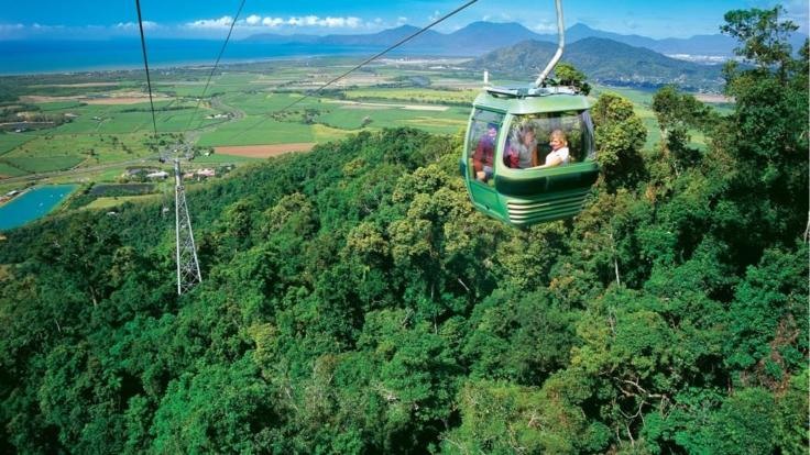 Skyrail Rainforest Cableway - travel above the canopy or the Kuranda Rainforest.
