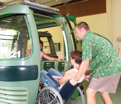 Skyrail offer Wheelchair friendly gondolas
