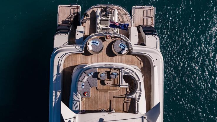 Superyachts Australia - Aft Aerial View