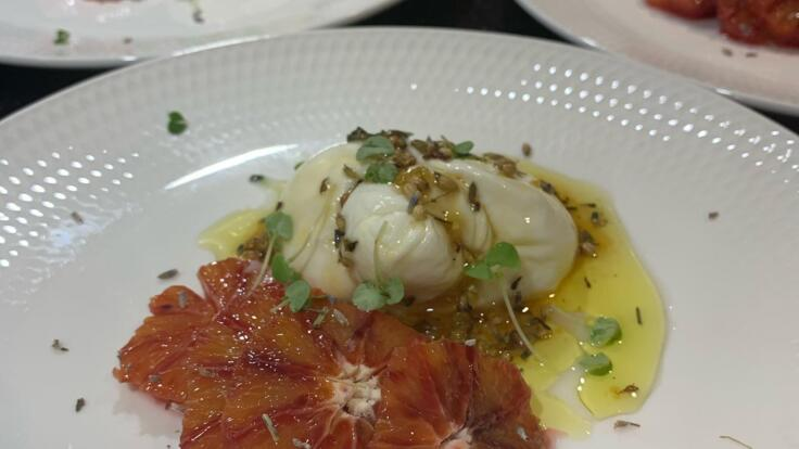 Superyachts Great Barrier Reef - Burrata cheese and Blood Orange