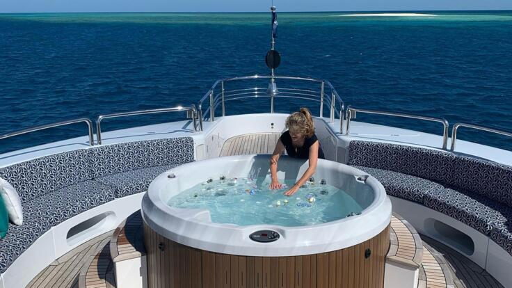 Superyachts Australia - Luxuriate in the outdoor Jacuzzi