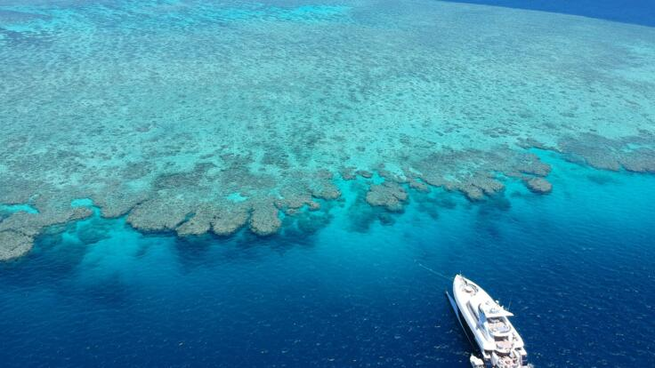 Superyacht Holidays Great Barrier Reef - At Anchor