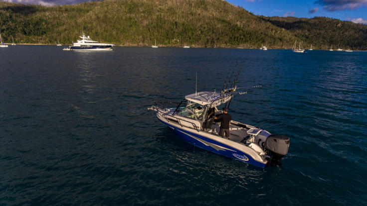 Superyachts Great Barrier Reef - Fishing tender on Superyacht - Great Barrier Reef Australia
