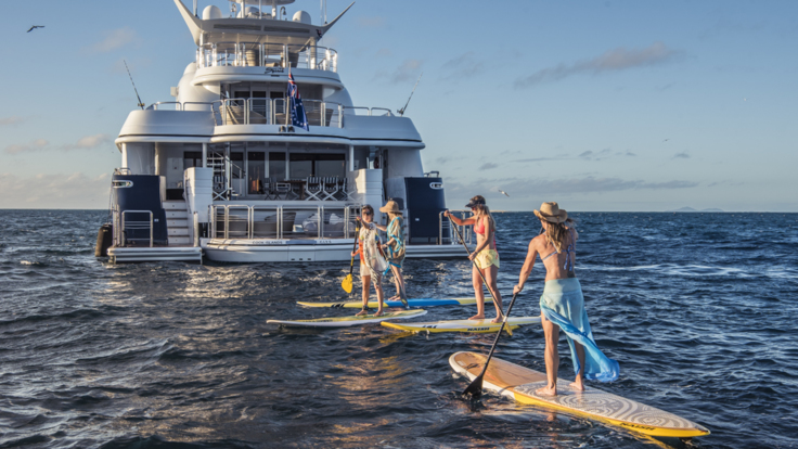 Superyachts Great Barrier Reef - Enjoying watersports off luxury superyacht on the Great Barrier Reef - Cairns - Port Douglas