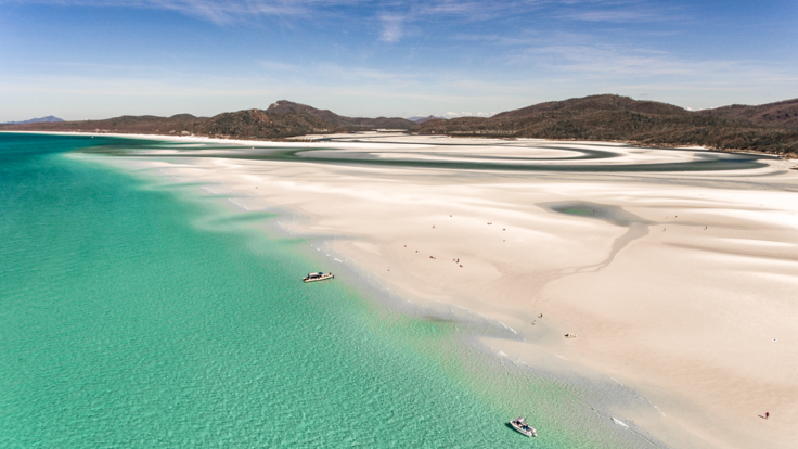 Superyachts Great Barrier Reef - Stunning Whitehaven Beach on the Great Barrier Reef in Australia