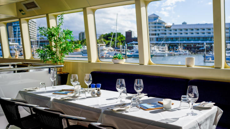 View of the Trinity Inlet from your table
