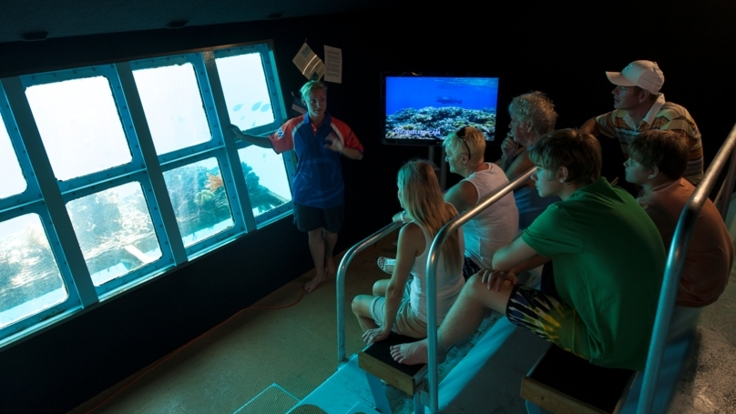 Underwater Observatory on the Great Barrier Reef platform from Cairns
