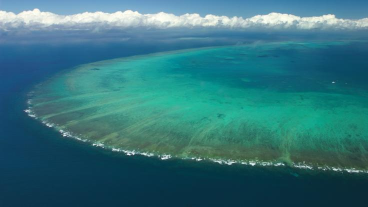 Aerial view of Arlington Reef Great Barrier Reef Australia