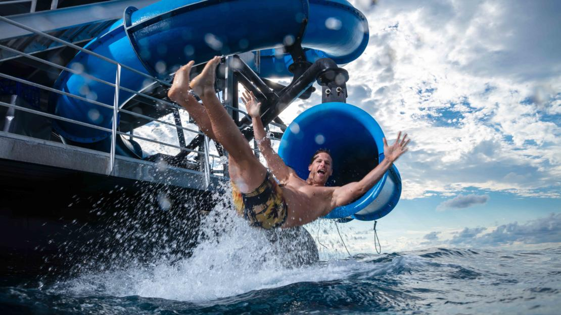 The Only Waterslide On The Great Barrier Reef In Tropical North Queensland