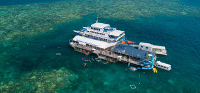 Moore Reef pontoon and waterslide, Great Barrier Reef