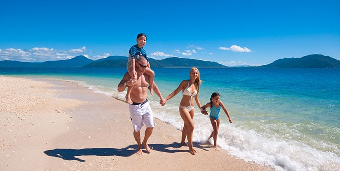 Family fun at beautiful Fitzroy Island