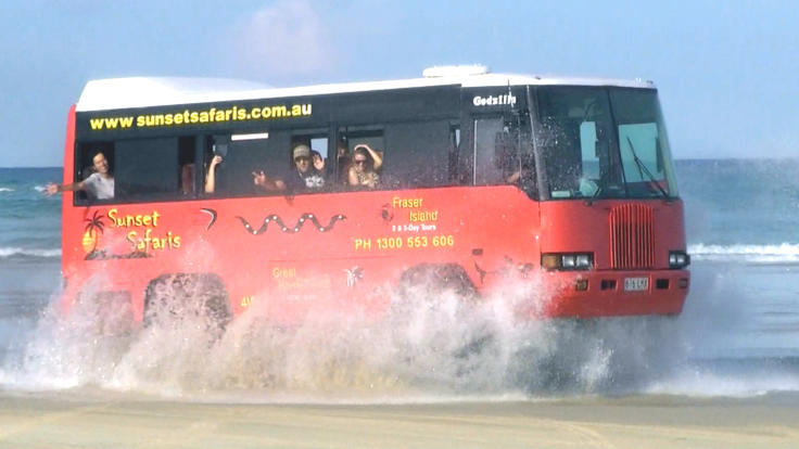 Enjoy the adventures of 4WD action on the beach of Fraser Island