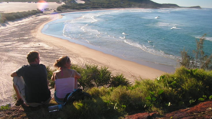 Take in the spectacular views from Indian Head on Fraser Island