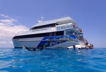 Lady Musgrave Island Boat on the Southern Great Barrier Reef