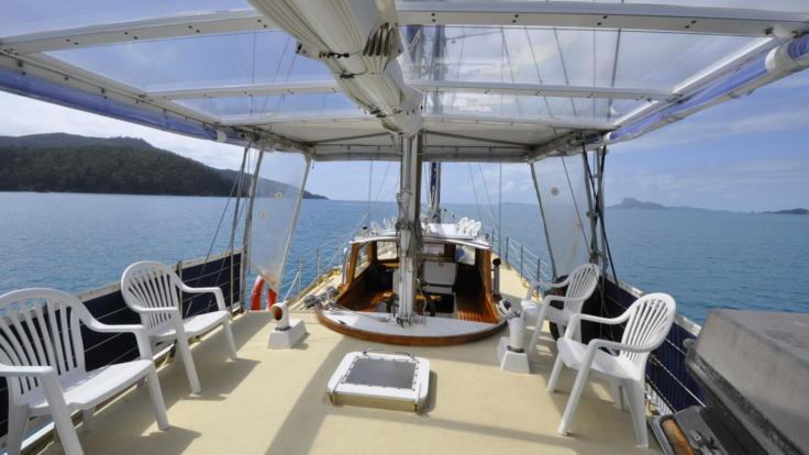 Relax on deck on our Whitsundays Sailing Boat