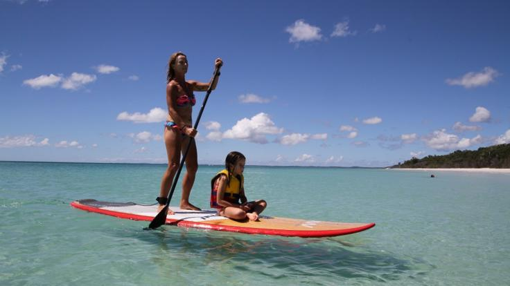 Stand up paddle boards on Fraser Island