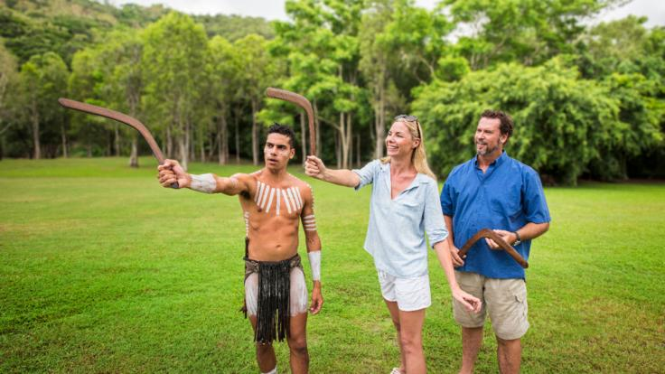 Try your hand at throwing a boomerang at the Aboriginal Park