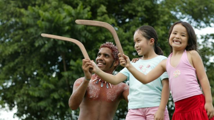Try your hand at the boomerang throwing  at Cairns Aboriginal Cultural park