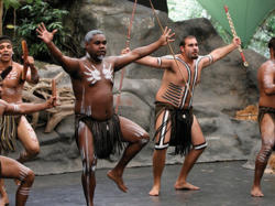 Indigenous dance theater and culture at Tjapukai, Cairns