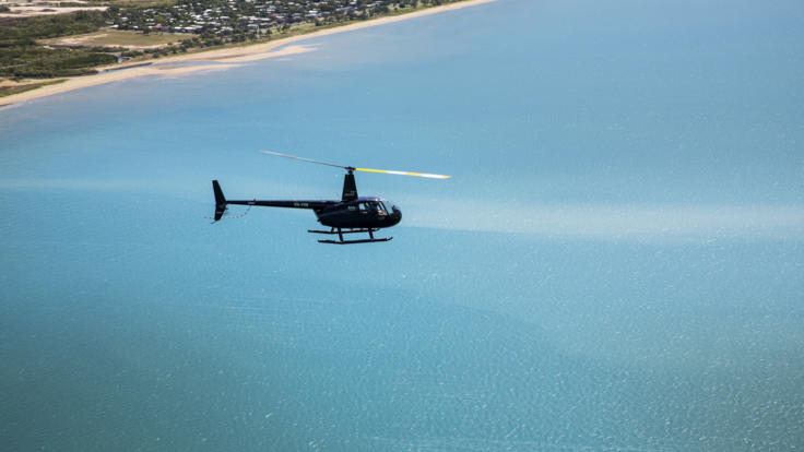 Barrier Reef Australia - Helicopter scenic flight - Townsville over Magnetic Island