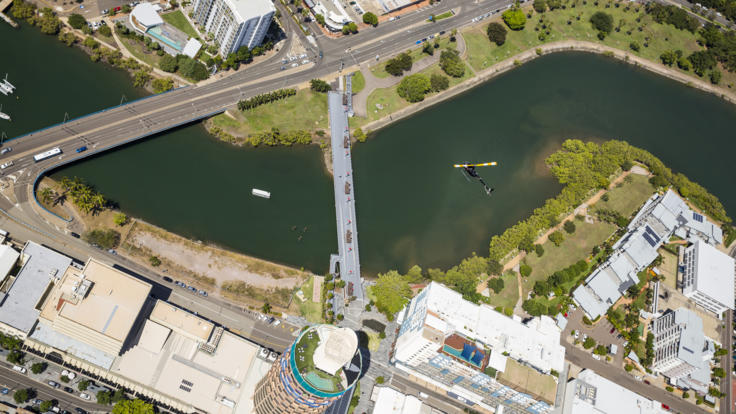 Aerial view of River | Townsville Helicopter Scenic Flight