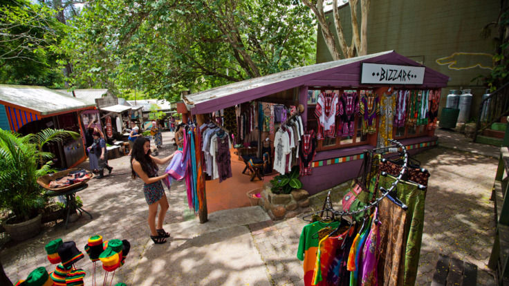 Explore the Kuranda Markets in the rainforest