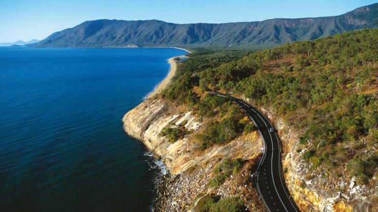 Aerial view of Great Barrier Reef Drive to Port Douglas