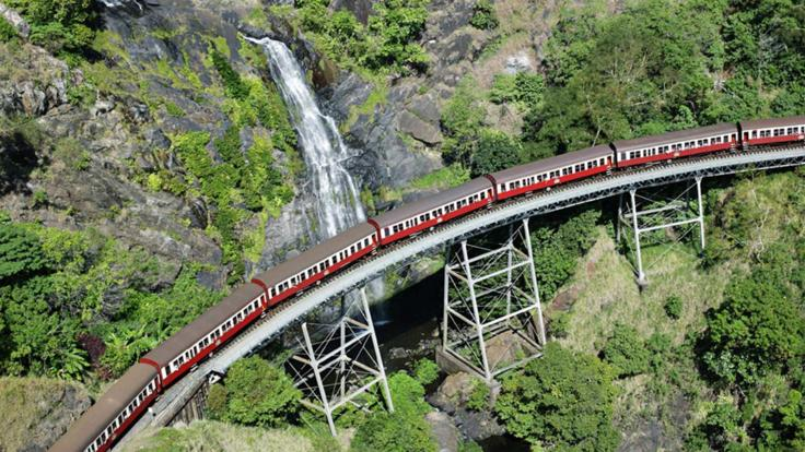 Aerial view of the Kuranda Train