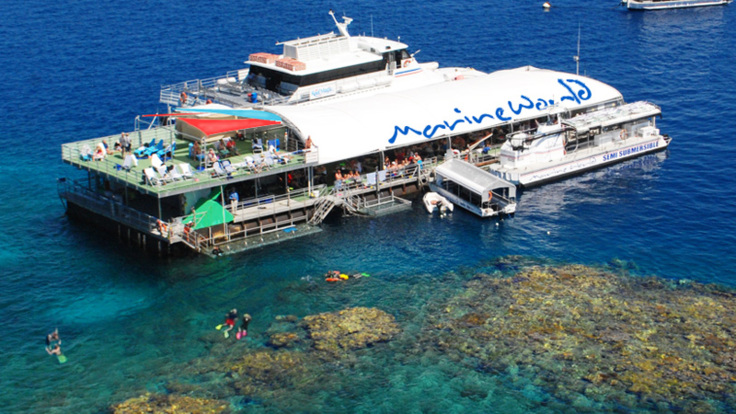 The reef platform where you will spend the day, Great Barrier Reef