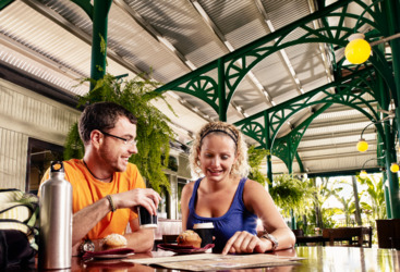 Freshwater Train Station - a great spot for breakfast before boarding Kuranda Train