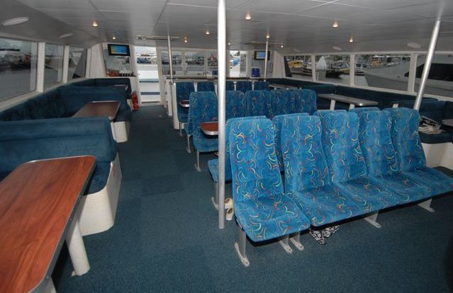 Great Barrier Reef Tour - Comfortable vessel interior for our 2 reef dive and snorkel tour
