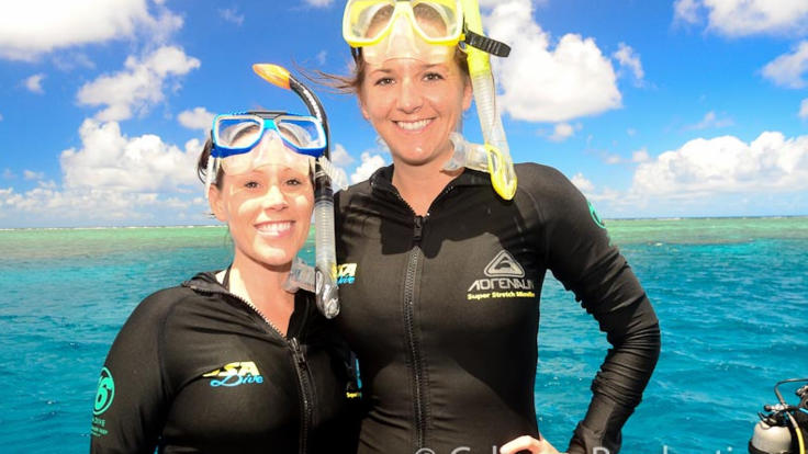Lycra and wetsuits provided on your full day Great Barrier Reef tour in Cairns