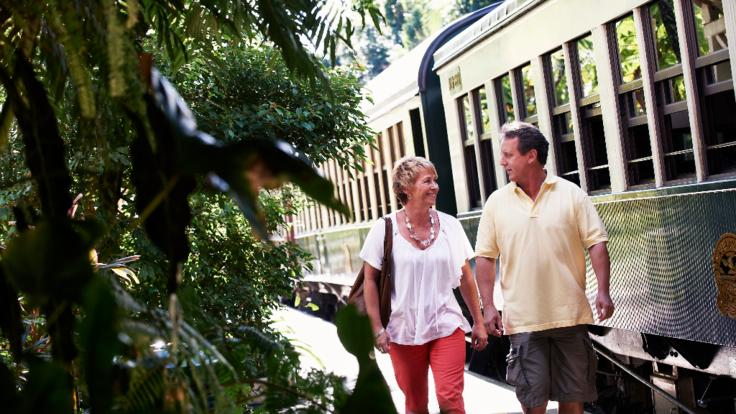 Kuranda Station - Couple on Kuranda tour