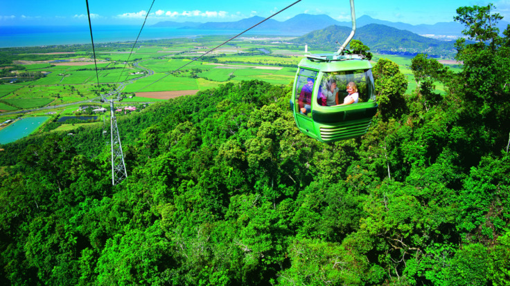 Skyrail Rainforest Cableway - aerial view