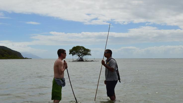 Learn spear fishing skills in Cape Tribulation with Aboriginals