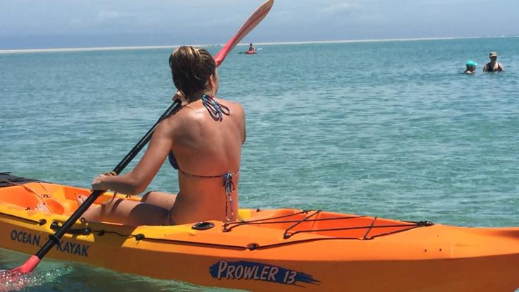 Kayak the clear waters of a remote Fraser Island beach - Hervey Bay half day tour