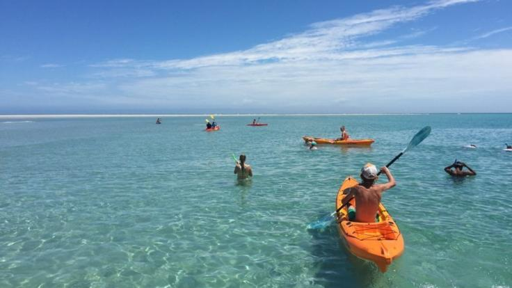 Enjoy a half day on a remote Beach to kayak, swim and relax - from Hervey Bay