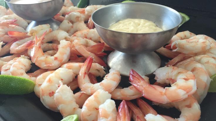 Enjoy complimentary canapes including fresh local seafood onboard your Hervey Bay Sunset Cruise