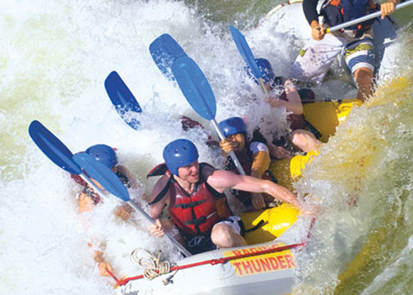 Tully River White Water Rafting view
