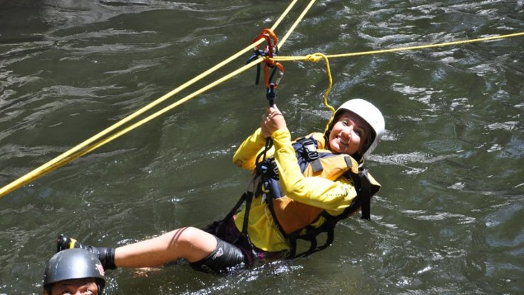 Zipline at Crystal Cascades on canyoning tour